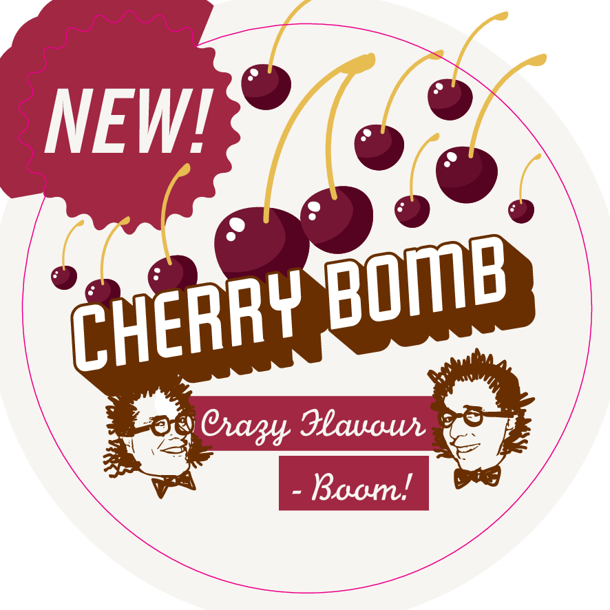 Cherry Bomb Glass Sticker