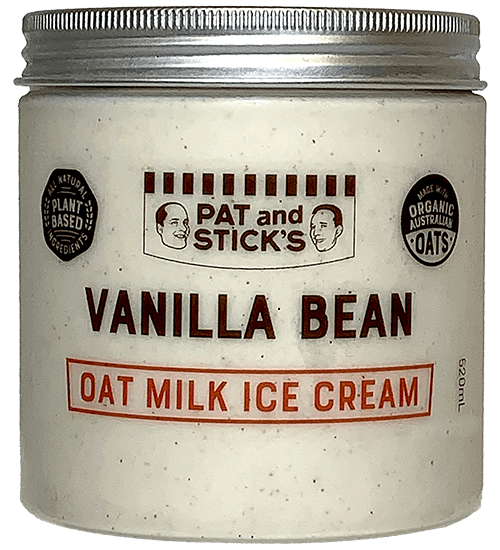 pat and sticks - oat milk tub - oat vanilla